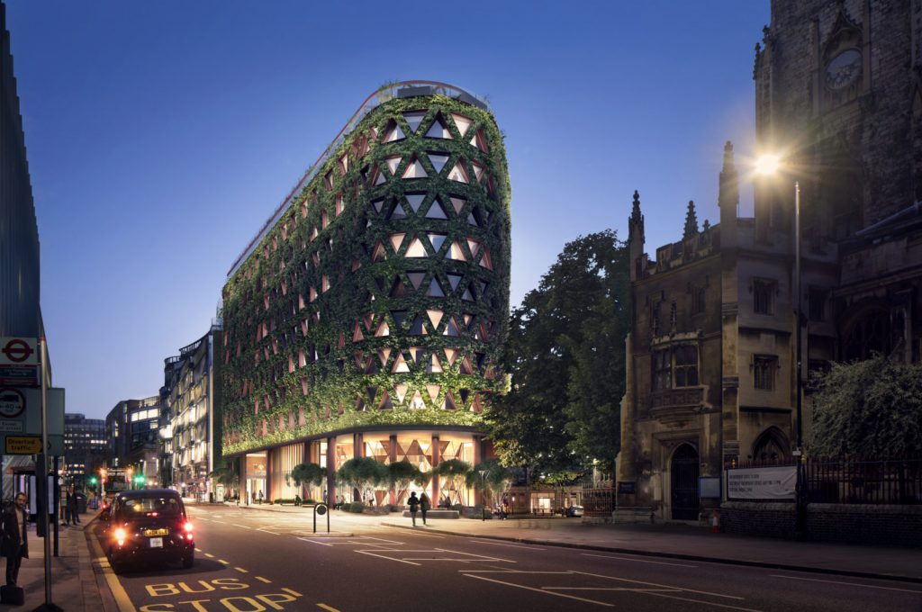 зеленый отель в Лондоне