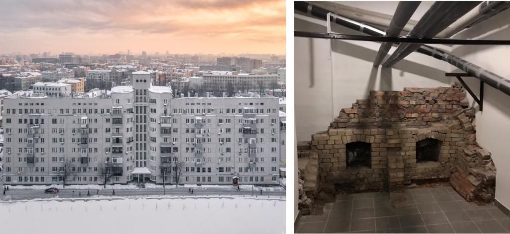 Консервация руин в Доме Обрабстроя, г. Москва