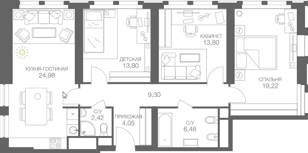 Планировки и кастомизация для жилых помещений